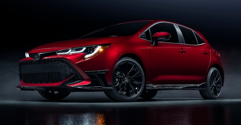 2021 Toyota Corolla Hatchback Special Edition red front view