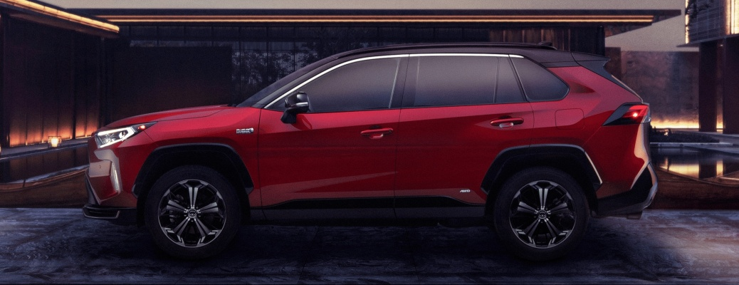 2021 Toyota RAV4 Prime red side view