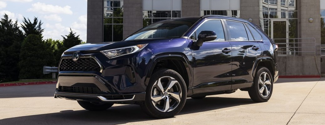 2021 Toyota RAV4 Prime in blue side front view