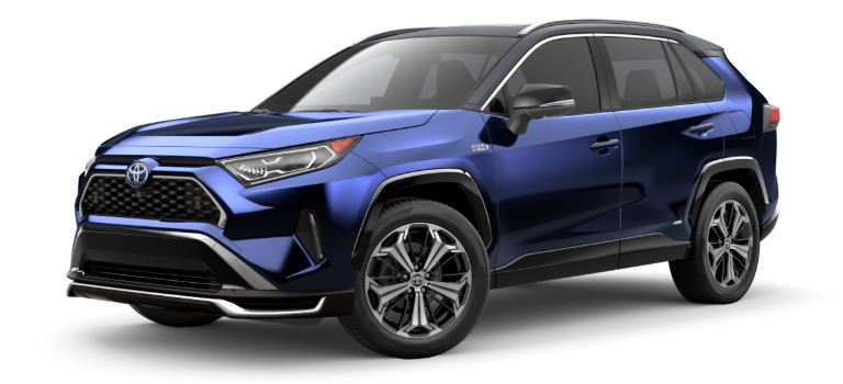 2021 Toyota RAV4 Prime side view Blueprint with black roof
