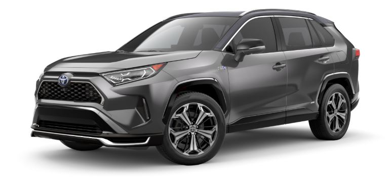 2021 Toyota RAV4 Prime side view Magnetic Gray Metallic with black roof_o