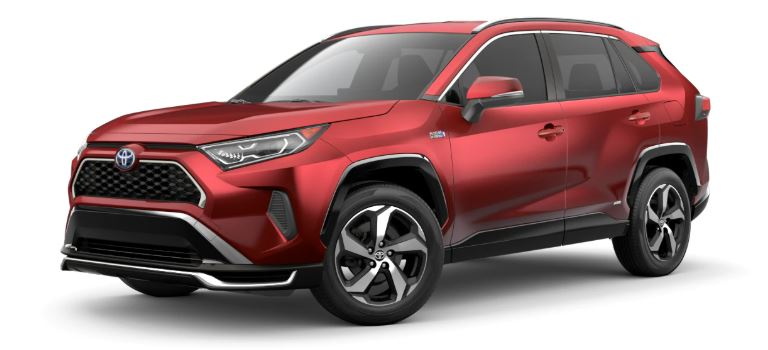 2021 Toyota RAV4 Prime side view Supersonic Red
