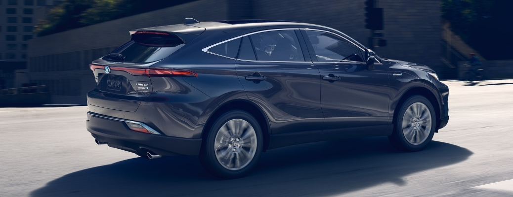 2021 Toyota Venza gray back side view