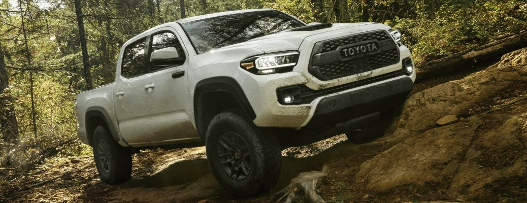 2021 Toyota Tacoma white side view