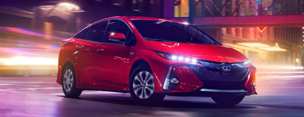 2021 Toyota Prius Prime red side view
