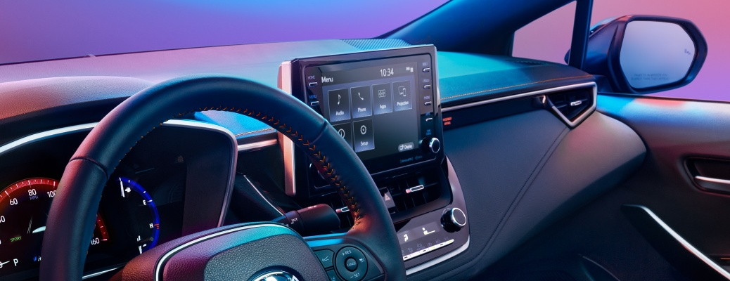 2021 Toyota Corolla infotainment system and interior