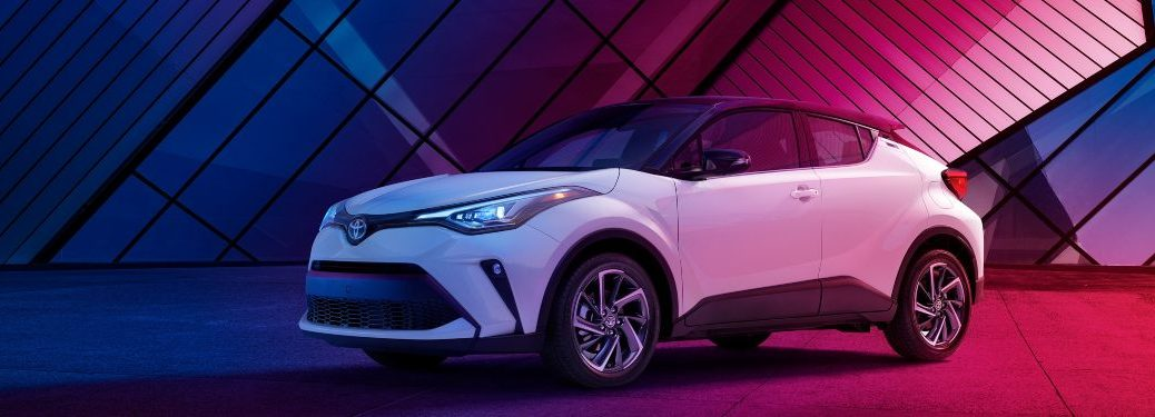 2021 Toyota C-HR parked inside of a building