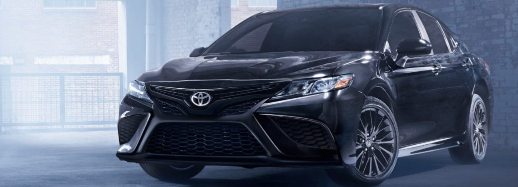 2021 Toyota Camry parked inside a warehouse