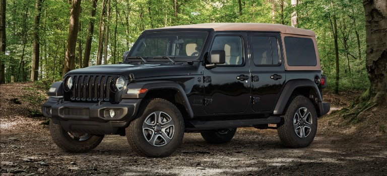 2020 Jeep Wrangler Black and Tan Edition side view
