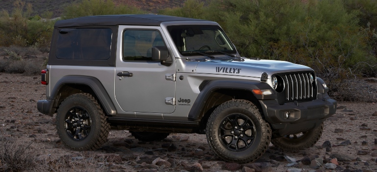 2020 Jeep Wrangler Willys Edition silver side view