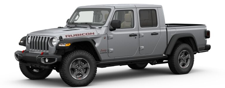 2020 Jeep Gladiator Billet Silver Metallic side view