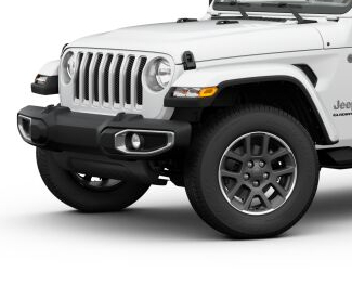 2020 Jeep Gladiator Bright White side view Overland with granite crystal wheels