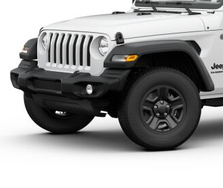 2020 Jeep Gladiator Bright White side view Sport with black wheels