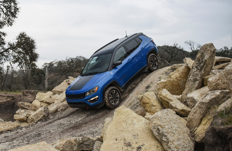 2020 Jeep Compass blue side view