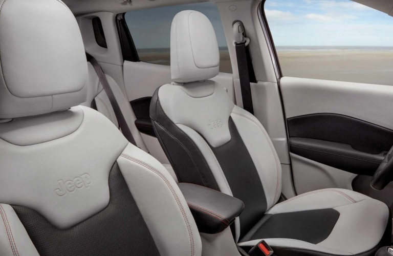 2020 Jeep Compass gray and black front seats