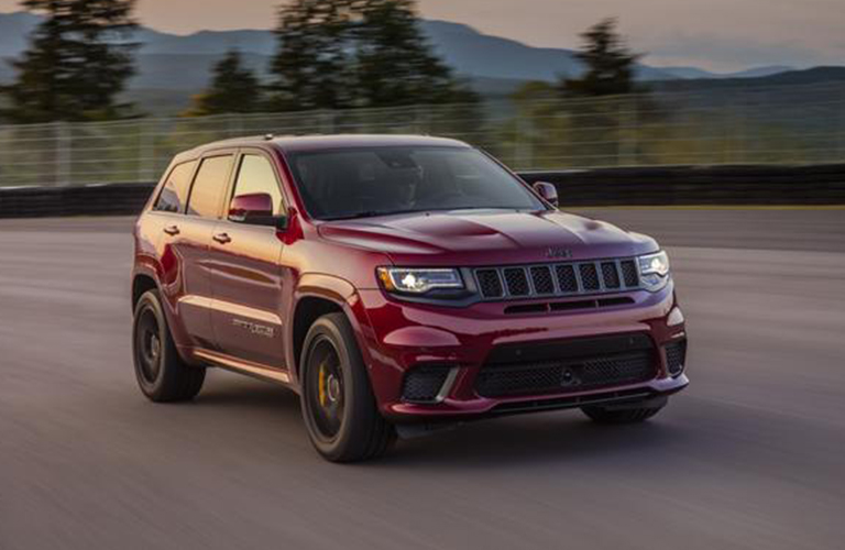 2020 Jeep Grand Cherokee driving on a country road