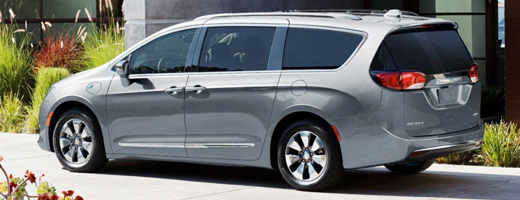 Grey 2020 Chrysler Pacifica rear view