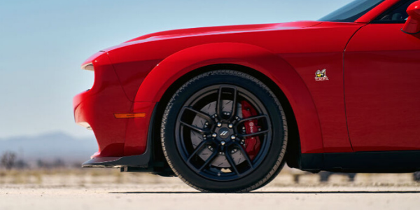 Red 2020 Dodge Challenger side view