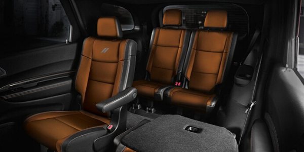 2020 Dodge Durango second and third-row seats with one seat folded