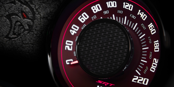 Speedometer of 2020 Dodge Challenger SRT Hellcat Redeye Widebody