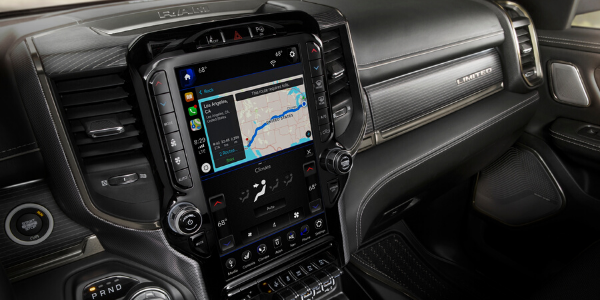Uconnect® 4 12-inch display on 2020 Ram 1500 Limited