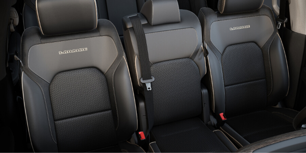 Leather-trimmed front seats of 2020 Ram 1500 Laramie