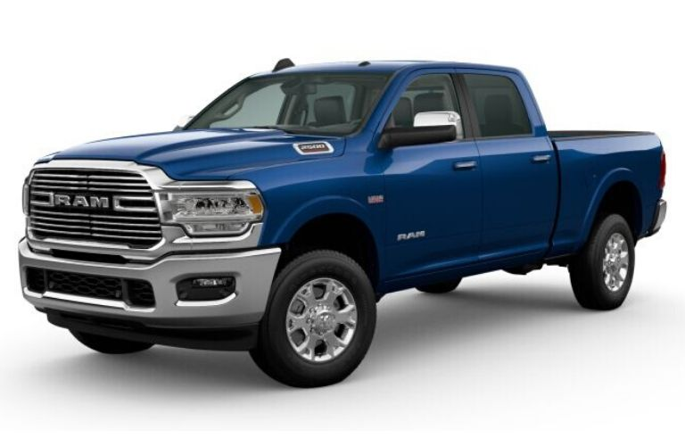 Patriot Blue Pearl 2020 Ram 2500 on White Background