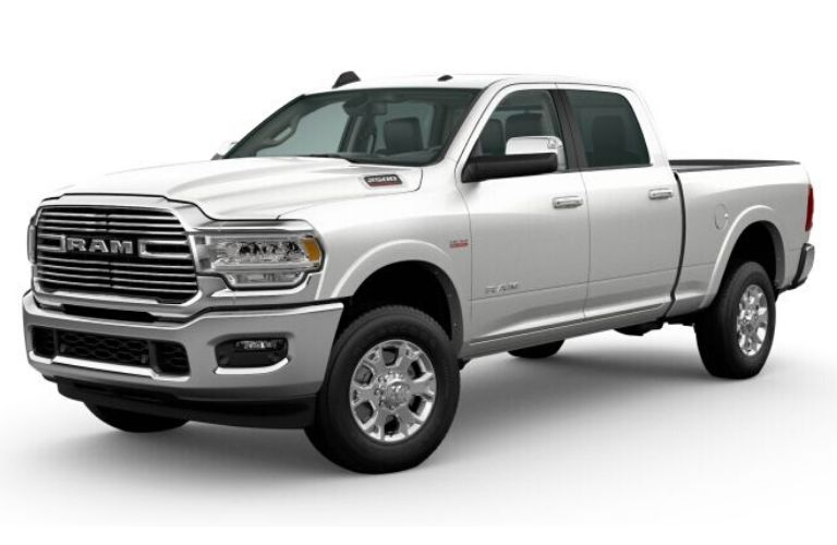 Pearl White 2020 Ram 2500 on White Background