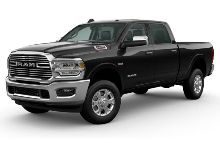 Diamond Black Crystal Pearl 2020 Ram 2500 on White Background