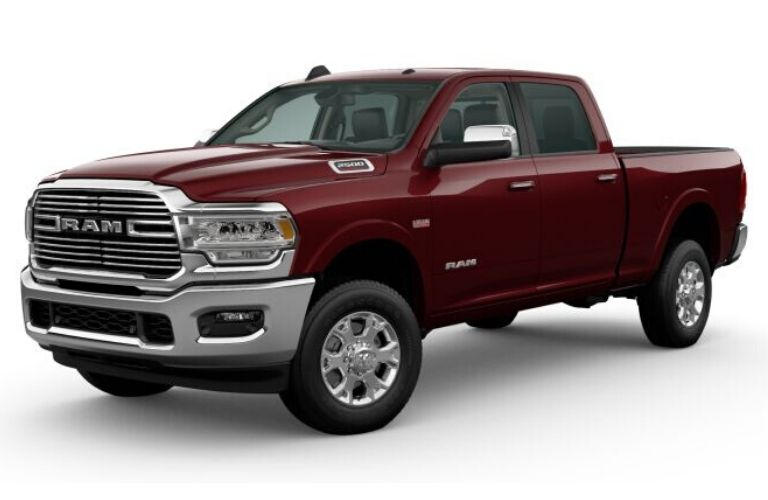 Delmonico Red Pearl 2020 Ram 2500 on White Background