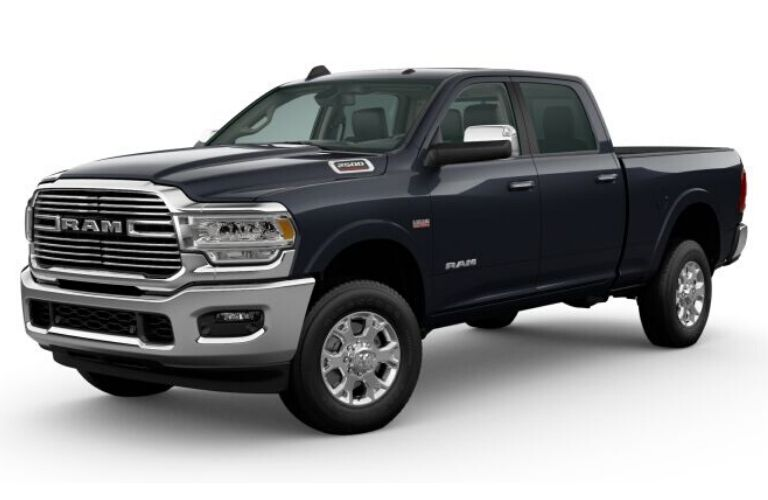 Maximum Steel Metallic 2020 Ram 2500 on White Background