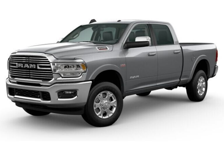 Billet Silver Metallic 2020 Ram 2500 on White Background