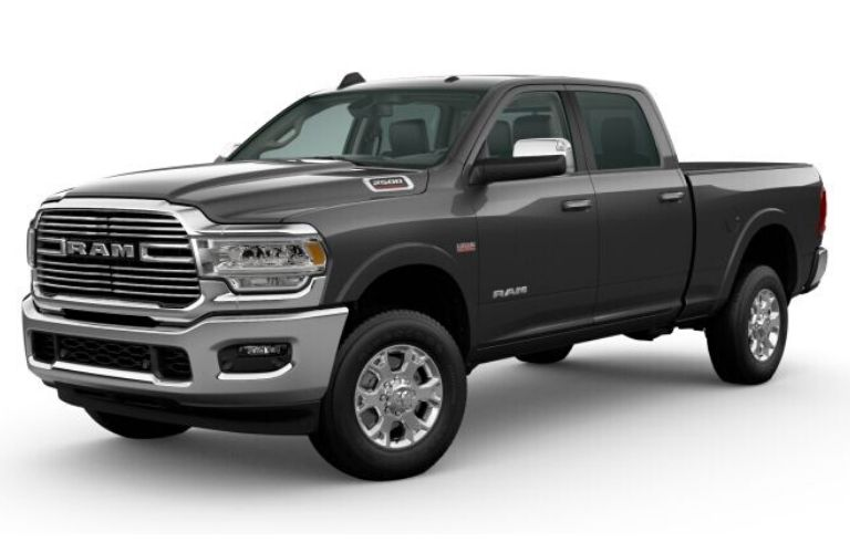 Granite Crystal Metallic 2020 Ram 2500 on White Background