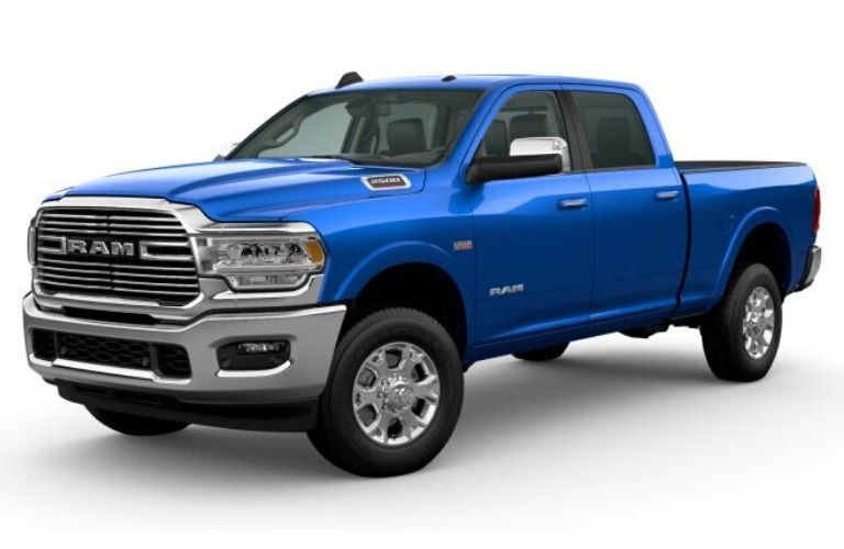 Hydro Blue Pearl 2020 Ram 2500 on White Background