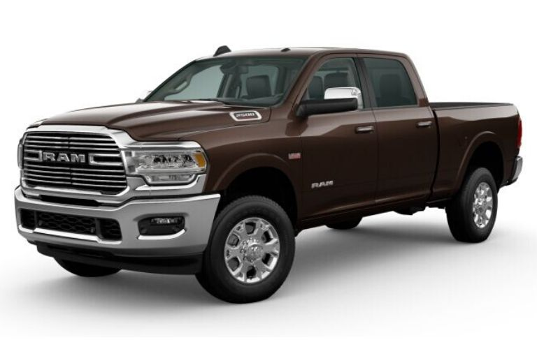 Walnut Brown Metallic 2020 Ram 2500 on White Background