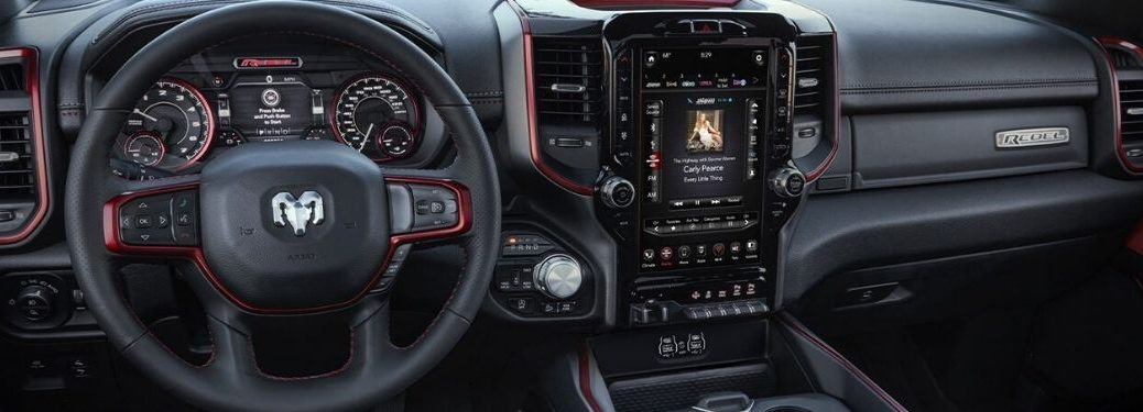 2020 Ram 1500 Front Interior with 12-Inch Uconnect Display