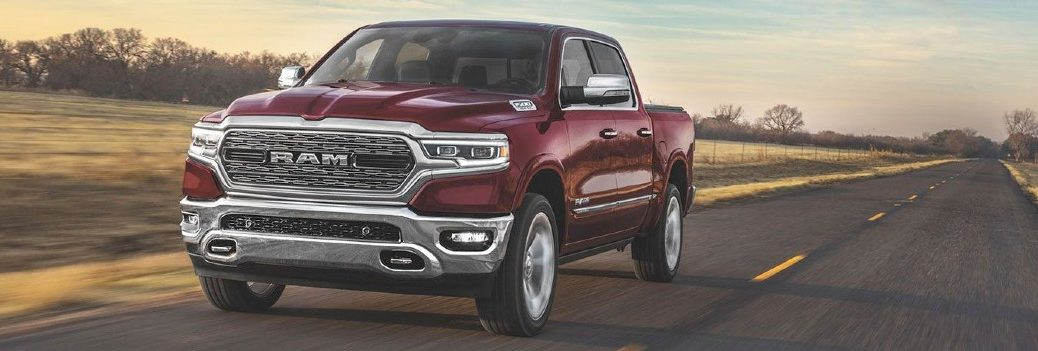 2020 RAM 1500 exterior front fascia driver side on highway
