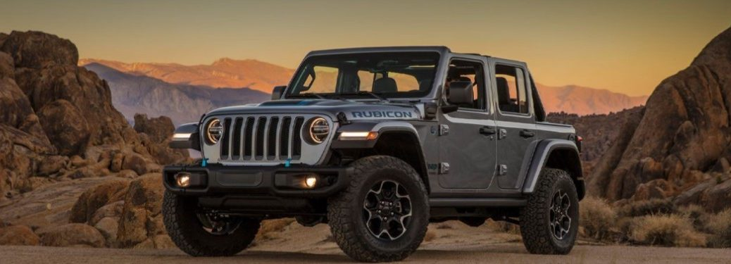 2021 Jeep Wrangler 4xe Plug-In Hybrid parked off-road
