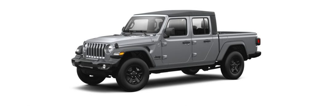 Billet Silver Metallic 2021 Jeep Gladiator on White Background