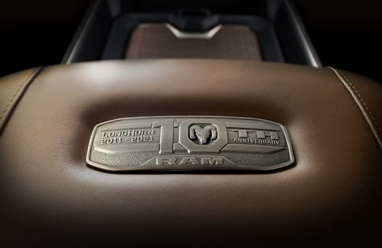 2021 Ram 1500 Limited Longhorn 10th Anniversary Edition Interior Badge