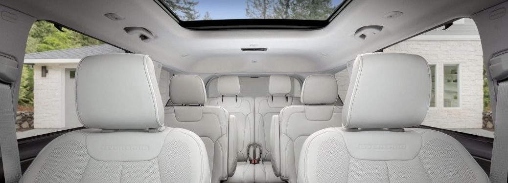 Front to Rear View of 2021 Jeep Grand Cherokee L Interior