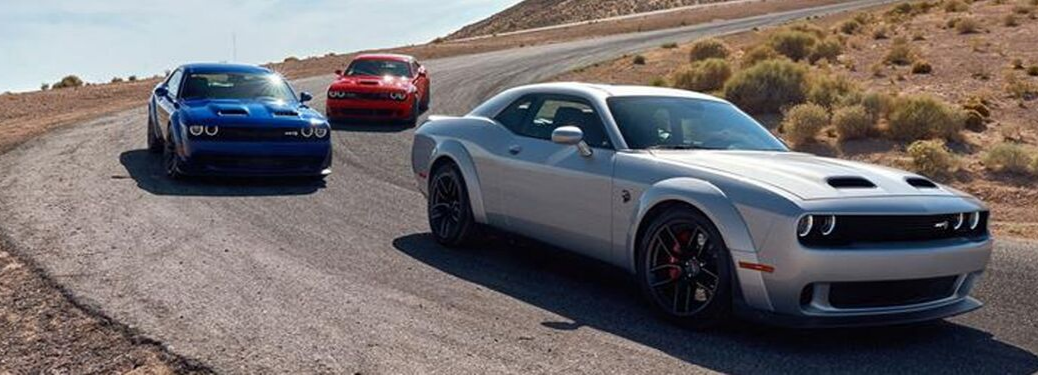 2019 Dodge Challenger driving on road