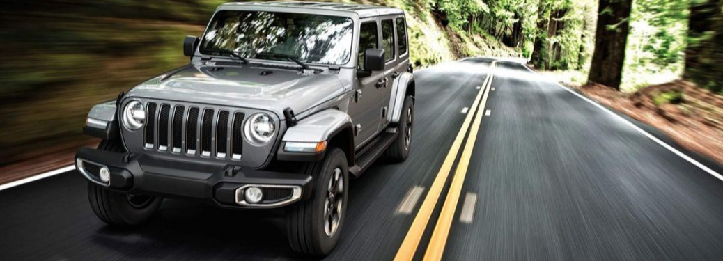 2019 Jeep Wrangler driving on the road