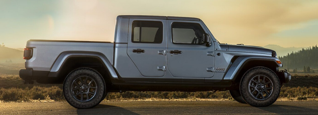 2020 Jeep Gladiator parked on the dirt