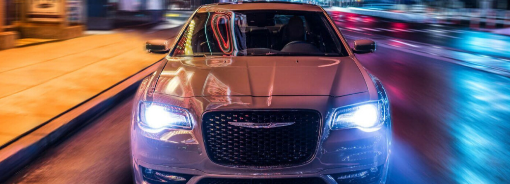 2020 Chrysler 300 front view lights