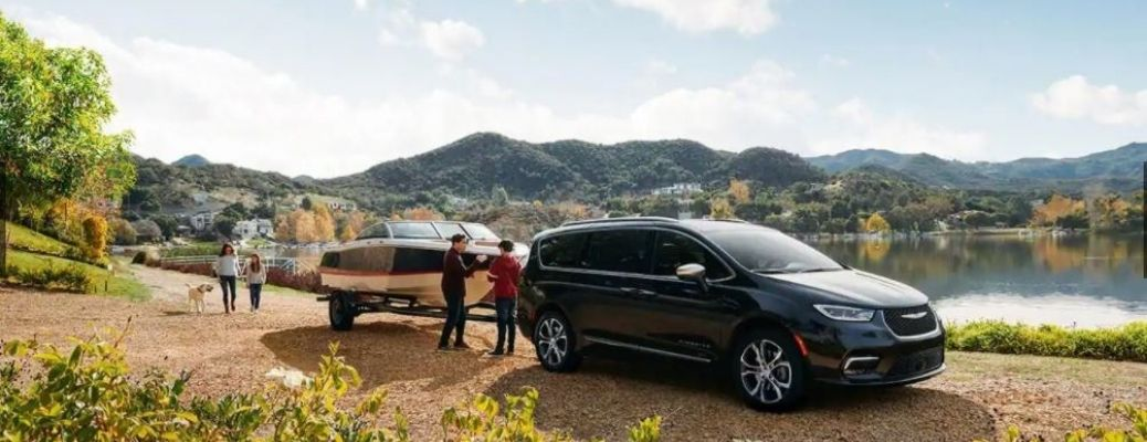 2021 Chrysler Pacifica parked with a trailer