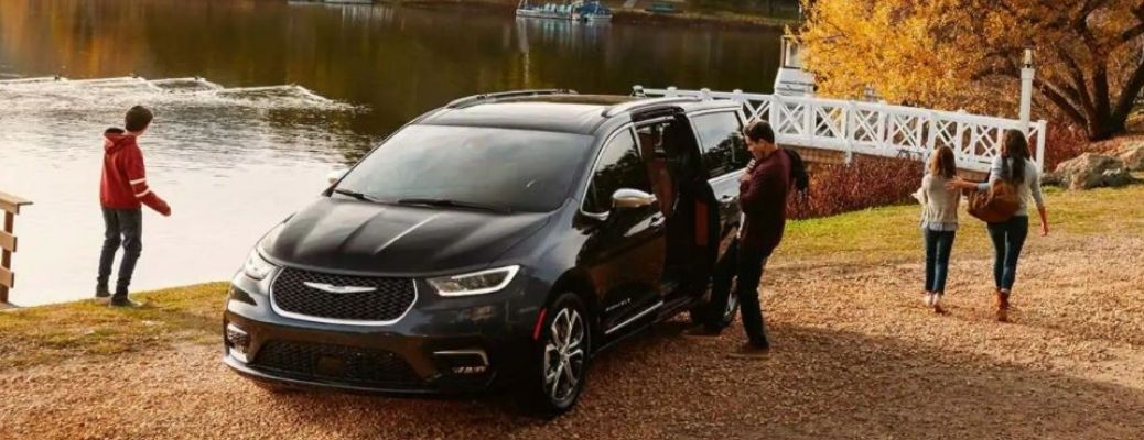 2021 Chrysler Pacifica parked near water