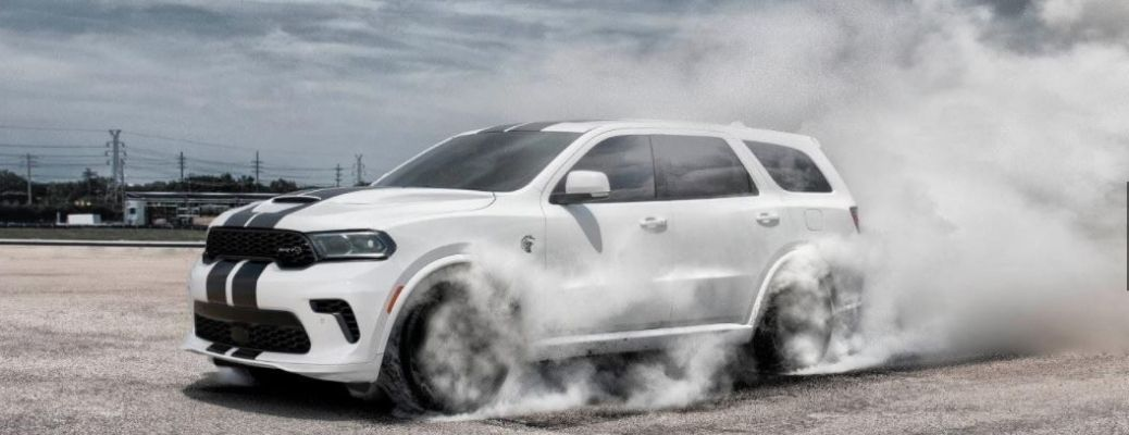 2021 Dodge Durango driving in a track
