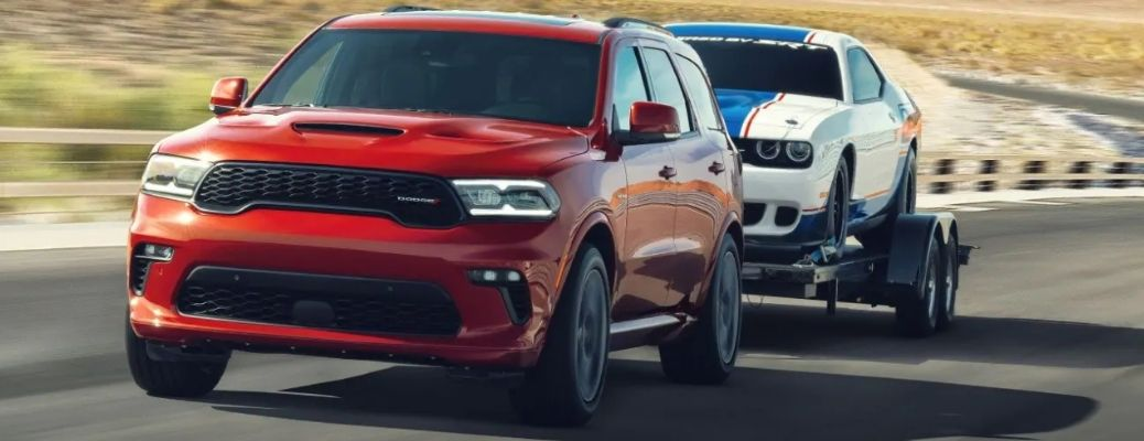 2021 Dodge Durango towing another vehicle
