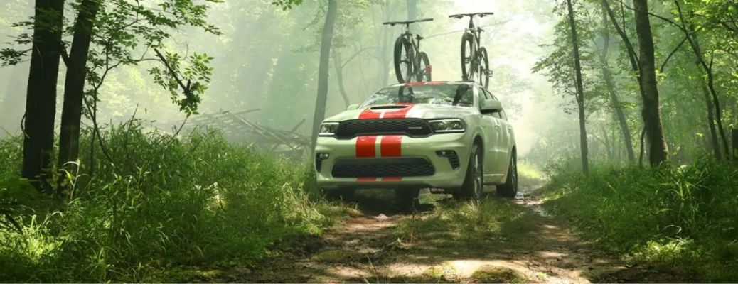 2021 Dodge Durango parked in a forest